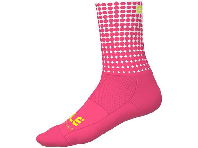 Alé Cycling Dots Socks 16cm flou pink-white